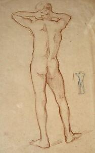 Dessin Académie De Nu Ernest Pierre GuÉrin Modèl Vivant Drawing Academy Naked Bonne Conservation De La Chaleur