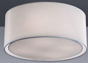 Plafoniere Tessuto : Plafoniera a luci collezione wheel paralume in tessuto moderno