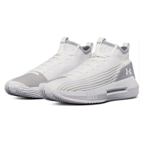 Under Armour Mens Heat Seeker Basketball Shoes White Sports Breathable