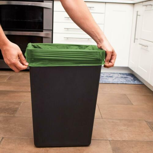 8 Gallon Medium Trash Bags Strong Kitchen Garbage Bags 210 count, 6 colors
