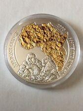 Silver gilded coin 2008 Rwanda 50 francs Gorilla RARE