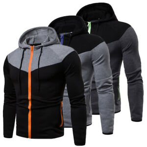 New-Men-039-s-Winter-Slim-Hoodie-Warm-Hooded-Sweatshirt-Coat-Jacket-Outwear-Sweater