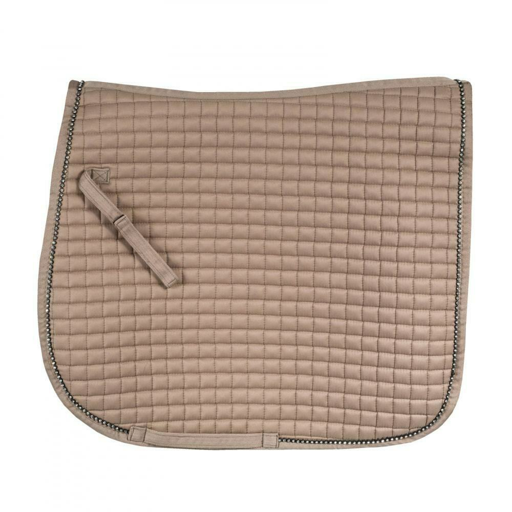 Horze Duchess Quilted Dressage Saddle Pad with Crystal-Adorned Trim   preferential