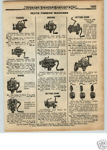1922-PAPER-AD-10-PG-Tin-Tinners-039-Tools-Pexto-Setting-Down-Machine-Burring