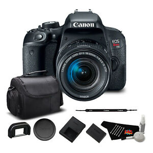 Canon EOS Rebel T7i DSLR Camera with 18-55mm Lens (1894C002) Bundle