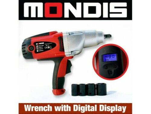 "MONDIS 240V IMPACT 12"" WRENCH 480NM AUOTIVE KIT RATTLE GUN ADJUST TORQUE"