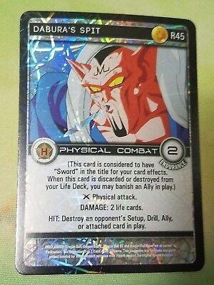 Dragon Ball Z DBZ CCG TCG Custom Panini Proxy Foil 45 Dabura's Spit