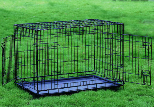 """Everila Extra Large Extra Tall 48/"""" Dog Crate Cat Cage Kennel 35/""""H Greyhound"""