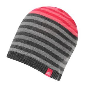 5f81e8ff7a2 Beanie Adidas Pink  Grey Hat Woolie Junior Size Boys Winter Runnning ...