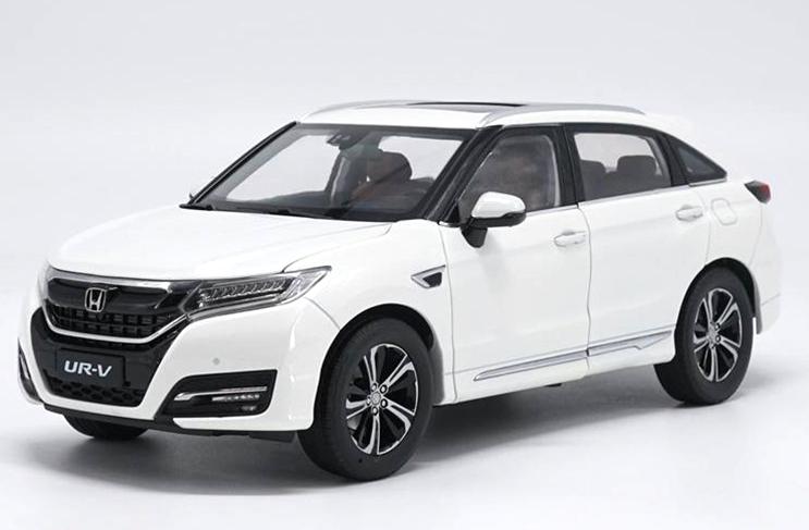 1/18 Dongfeng Honda original manufacturer,Honda UR-V alloy car model White,Gold