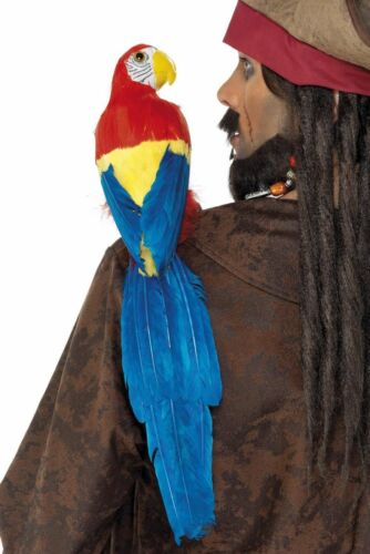 NEW Parrot with Elastic Band Pirate Fancy Dress Accessories Multi-Coloured