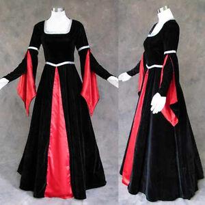 Medieval-Renaissance-Gown-Dress-Costume-Goth-Vampire-3X