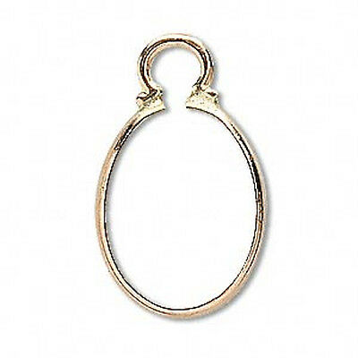 Yellow Gold Filled Oval Shaped Cinch Mount For 10x8-40x30mm Oval Stones