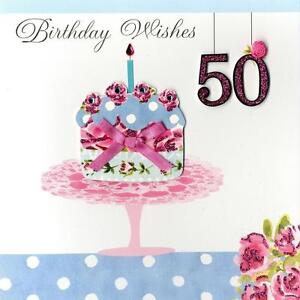 Image Is Loading Second Nature 50th Birthday Keepsake Card Pretty Handmade