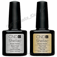 CND Shellac Polish, Choose from Top Coat, Base Coat, Top & Base Coat both SET