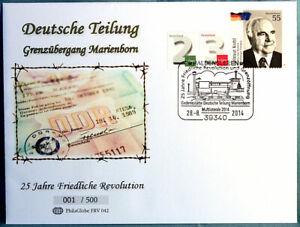 FRV-042-Ersttagsbrief-Deutsche-Teilung-Grenzuebergang-Marienborn-28-08-2014