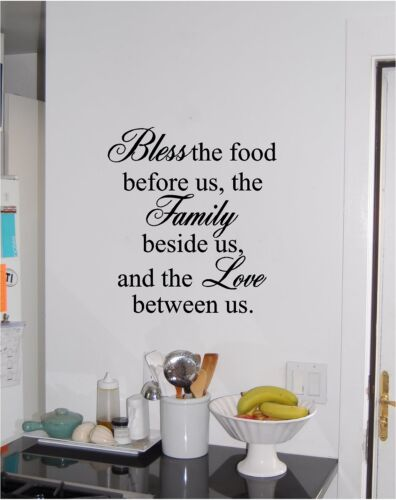 Bless The Food Before Us Wall Sticker Vinyl Decals Art Home Decor