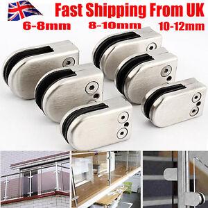 Stainless-Steel-Glass-Bracket-Clamp-Holder-Flat-Round-Bottom-for-Balustrade-UK