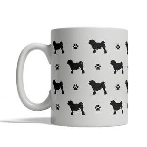 löwchen silhouettes coffee mug tea cup 11 oz little lion dog