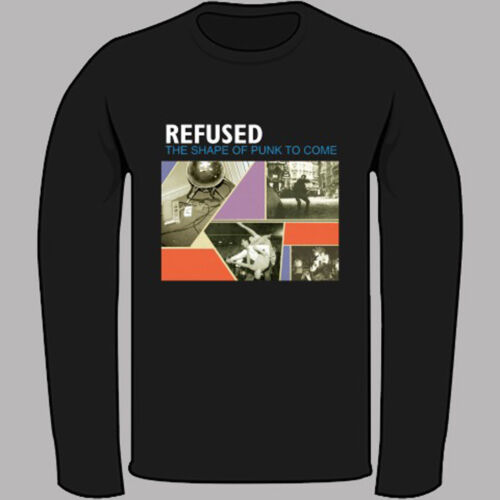 New REFUSED Punk Rock Band Black Long Sleeve T-Shirt Size S to 3XL