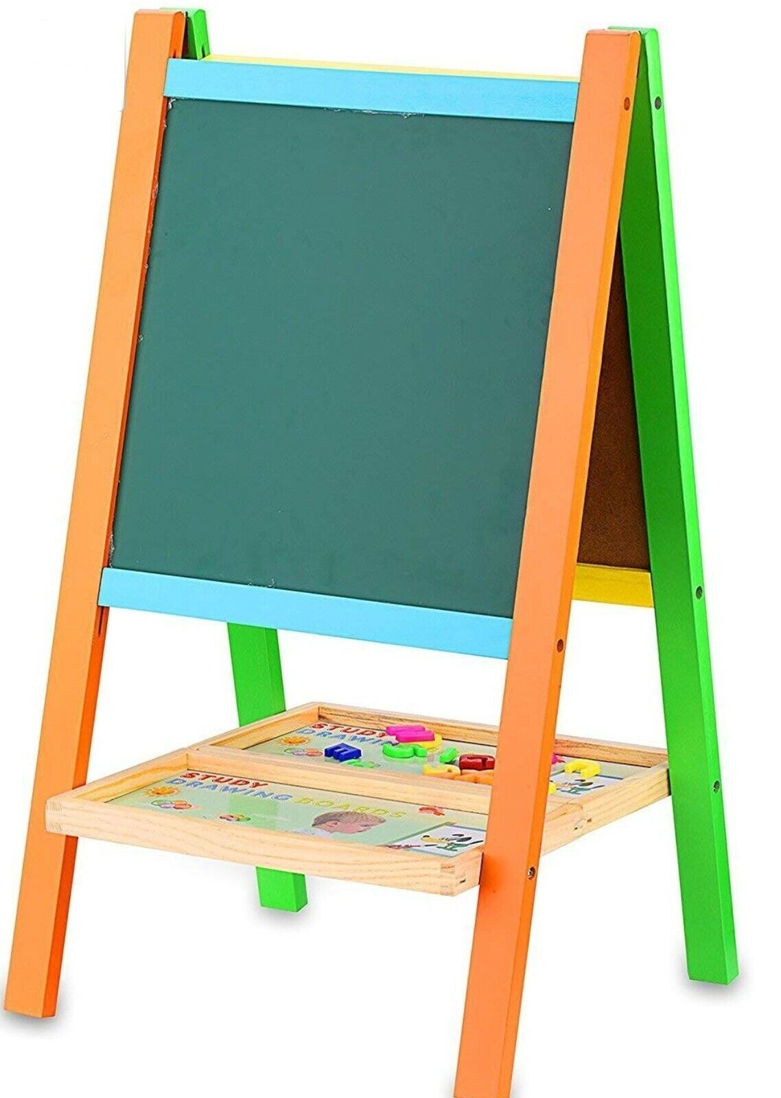 BATTOP Deluxe Two-Sided Two-Sided Two-Sided Wooden Art Easel Multifunctional Drawing Board Education f8a681