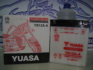 BATER-A-YUASA-YB12A-A-C-ACIDO-KAWASAKI-Z-400-ANO-1980-1981-1982