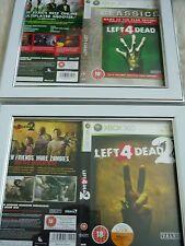 Lasciato Per Morto 1 e 2 XBOX 360 Maniche Wall Mounted incorniciato