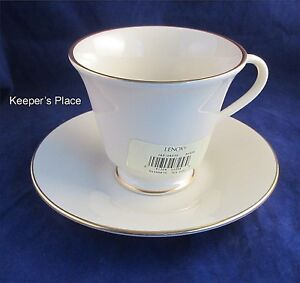 Lenox-HAYWORTH-COSMOPOLITAN-Cup-amp-Saucer-Gold-Trim-8-Available-New