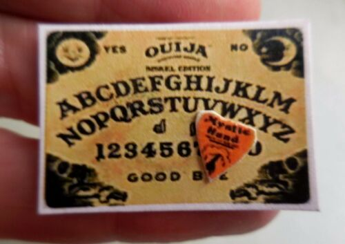 DOLLHOUSE MINIATURE ~ HALLOWEEN  OUIJA BOARD WITH POINTER