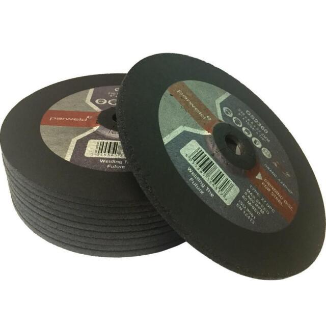 "OXWELD Lightning Parweld 9/"" 1.9mm Thin Slitting Cutting Discs"