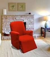 Red Jersey Recliner Stretch Slipcover, Furniture Couch Cover, Recliner Cover