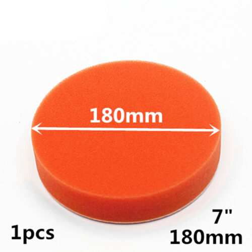 Car Sponge Polishing 180mm Pad Buffing Paint Care 7inch Flat Orange Universal