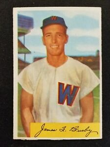 Details About 1954 Bowman Baseball Card 8 Jim Busby Washington Senators