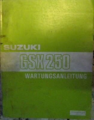 * Suzuki Gsx250 Gsx 250 1983 Wartungsanleitung Werkstatthandbuch 100% Original