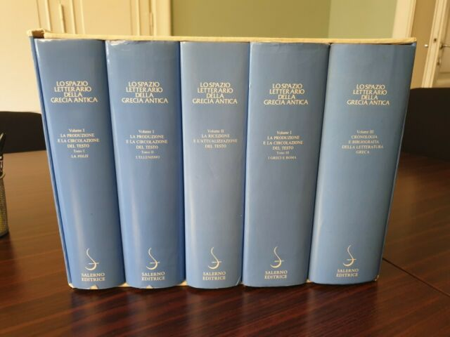 LO SPAZIO LETTERARIO DELLA GRECIA ANTICA.Salerno editore.5 volumi con cofanetto