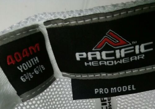 Pacific Headwear Flex fit 404M Slate//Or//Navy//Wh Baseball Cap Hat Youth Size
