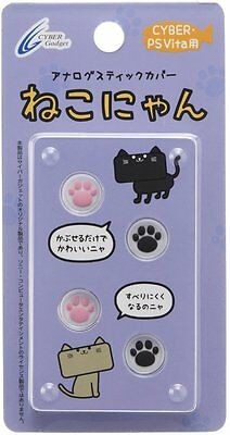 PS Vita Playstation Analogue Stick Control Pad Cover White Neko Nyan 4 piece set
