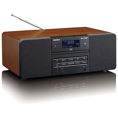 LENCO DAB+/FM Radio DAR-050 holz MP3-Player LCD-Display B-Ware
