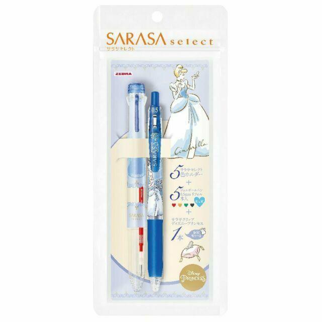 Zebra Sarasa Binder Clip Gel Ink Rollerball Neon Color Pen 0.5 mm5 Pens