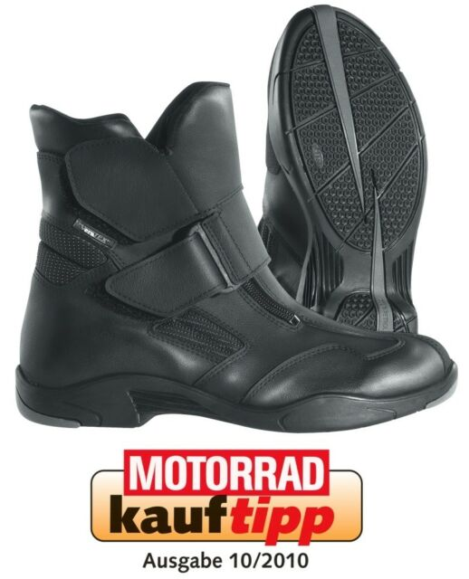 Kurzer Motorradstiefel Difi Freedom AX * Gr. 41 schwarz Stiefel wasserdicht