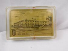 Vintage First National Bank Winona Minnesota Playing Cards Hard Plastic Case