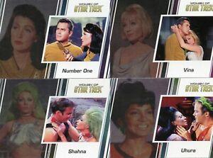 Women-of-Star-Trek-50th-Ann-Binder-100-card-base-set-Promo-cards-P1-amp-P2