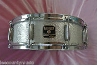 """GRETSCH 14"""" CATALINA CLUB SILVER SPARKLE SNARE DRUM for YOUR BEBOP DRUM SET T545"""