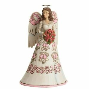 NEW-Jim-Shore-034-Blessings-On-Your-Anniversary-034-Angel-Heartwood-Creek-Figurine