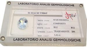 ACQUAMARINA-BERILLO-BLISTER-CERTIFICATO-3-42-KT-AUTENTICA-AQUAMARINE-CERTIFIED