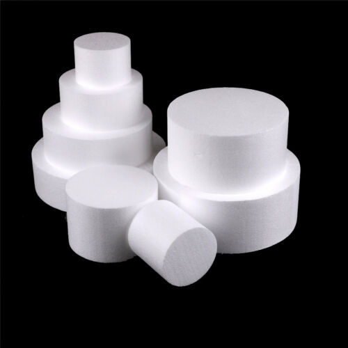 Round Styrofoam Foam Cake Dummy Modelling Sugarcraft Flower Wedding DecorLTA