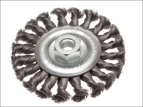 Faithfull FAIWBCT 115 circulaire brosse métallique 115 x 12 x M14 x 2 0.35mm fil