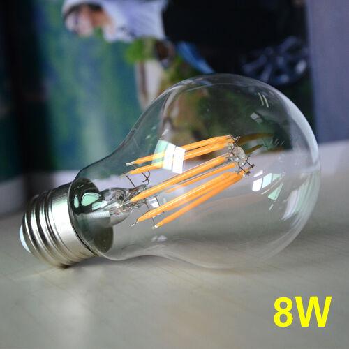Vintage E27 Edison Bulb LED Lamp Retro Filament COB Light 110V 220V 2W/4W/6W/8W