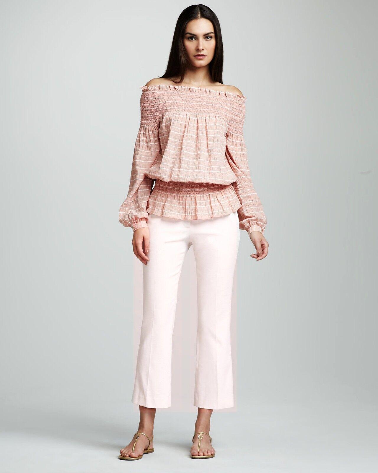 275 Tory Burch Rocco Cropped Capri Pant 8 Women Lady SEXY Stylish Pink Gift NEW