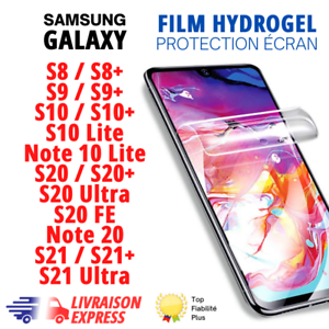 ✅Hydrogel Film Protection écran Samsung Galaxy S8,S9,S10,S20,S21,note10 lite,FE